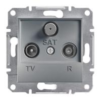 Розетка Schneider-Electric Asfora Plus TV-R-SAT проходная (8 дБ) сталь. EPH3500362