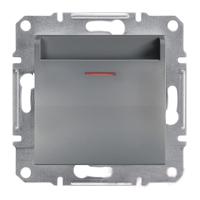 Выключатель Schneider-Electric Asfora Plus карточный сталь. EPH6200162