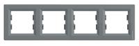 Рамка Schneider-Electric Asfora Plus 4-постовая горизонтальная сталь. EPH5800462