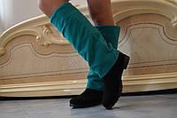 Высокие женские стильные кашемировые сапоги. Арт-0502, фото 1