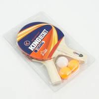 Ракетка 7010 (50) для настольного тенниса, 2ракетки + 3шарика