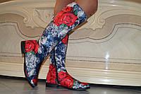 Высокие женские стильные сапоги. Арт-0504, фото 1