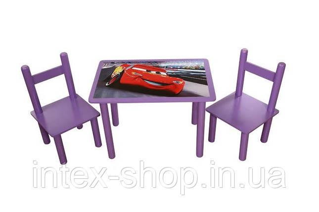 Набор Стол и 2 стульчика Тачки Bambi 073 (Финекс Плюс), фото 2