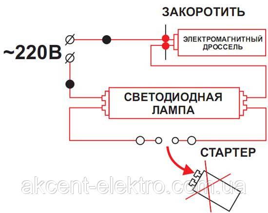 замена ламп Т8 на лед лампы
