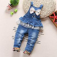 Модний джинсовий комбінезон на дівчинку весна/літо/осінь