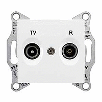 Розетка Schneider-Electric Sedna TV/R розетка концевая (1дб) белая. SDN3301621