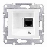 Розетка Schneider-Electric Sedna компьютерная STP кат. 5е белая. SDN4500121