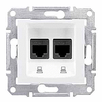 Розетка Schneider-Electric Sedna Компьютерная STP кат. 6 двойная белая. SDN5000121