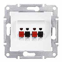 Розетка Schneider-Electric Sedna Аудио белая. SDN5400121