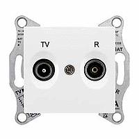 Розетка Schneider-Electric Sedna TV/R розетка проходная (4дб) белая. SDN3301821