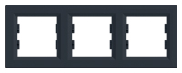 Рамка Schneider-Electric Asfora Plus 3-постовая горизонтальная антрацит. EPH5800371