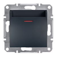 Выключатель Schneider-Electric Asfora Plus карточный антрацит. EPH6200171
