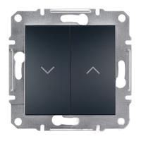 Выключатель Schneider-Electric Asfora Plus для жалюзи антрацит. EPH1300171