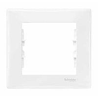 Рамка Schneider-Electric Sedna 1-пост белая SDN5800121