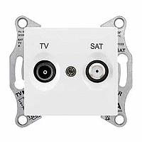 Розетка Schneider-Electric Sedna TV/SAT проходная (4дб) белая. SDN3401921