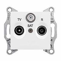 Розетка Schneider-Electric Sedna TV/R/SAT концевая (1дб) белая. SDN3501321