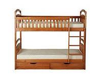 Кровать двухъярусная Лола Люкс из натурального дерева