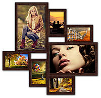 Фотоколлаж на 7 фото Волна Любви коричневая