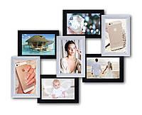 Фотоколлаж на 7 фото 7 чудес, черно-белая