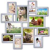 Рамка для коллажа на 12 фото Путешествие маленькое, белая
