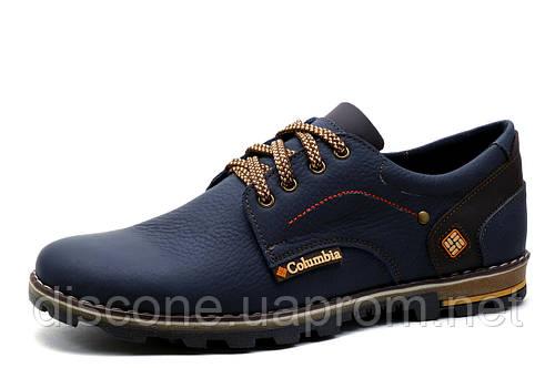 Туфли спортивные мужские Columbia, кожаные, синие