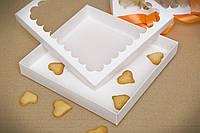 Коробка для пряников21*21*3 белая,крафт (код 04778), фото 1
