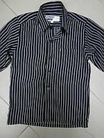 Рубашка детская черная в полоску