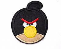 Аппликация клеевая злая птичка черн.