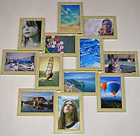 Рамка для коллажа на 12 фото Зиг Заг, леопардового цвета