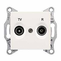 Розетка Schneider-Electric Sedna TV/R розетка концевая (1дб) слоновая кость. SDN3301623