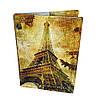 Обложка на паспорт кожаная Осенний париж