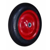 """Колесо с металлическим диском на литой резине для тачки Technics, 15"""", ось 20х75 мм"""