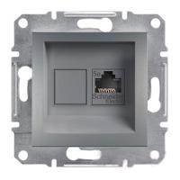 Розетка Schneider-Electric Asfora Plus компьютерная RJ45 кат. 6 UTP сталь. EPH4700162