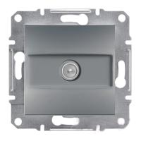 Розетка Schneider-Electric Asfora Plus TV проходная сталь. EPH3200362