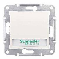Выключатель Schneider-Electric Sedna кнопка с инд. и надписью слоновая кость. SDN1600323