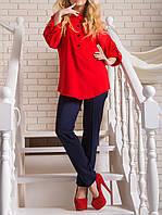 """Красивая женская блузка """"Оливия ред"""" от 44 до 50 размера"""