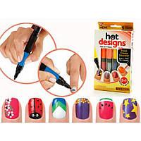 Набор для дизайна ногтей Hot designs, двойные лаки фломастеры, набор двойных лаков фломастеров для маникюра
