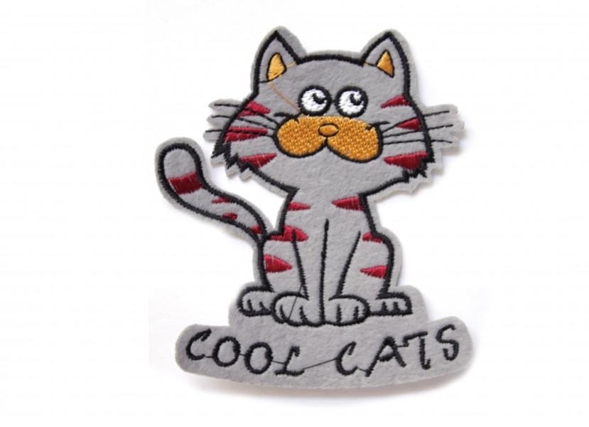 Аппликация клеевая котик