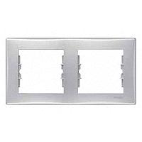 Рамка Schneider-Electric Sedna 2-поста горизонтальная алюминий SDN5800360
