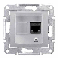 Розетка Schneider-Electric Sedna компьютерная STP кат. 5е алюминий. SDN4500160