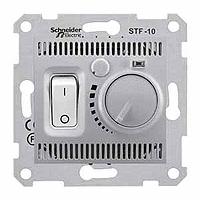 Термостат Schneider-Electric Sedna теплого пола алюминий. SDN6000360