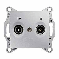 Розетка Schneider-Electric Sedna TV/R розетка концевая (1дб) алюминий. SDN3301660