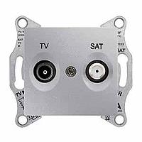 Розетка Schneider-Electric Sedna TV/SAT концевая (1дб) алюминий. SDN3401660
