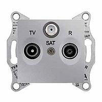 Розетка Schneider-Electric Sedna TV/R/SAT концевая (1дб) алюминий. SDN3501360