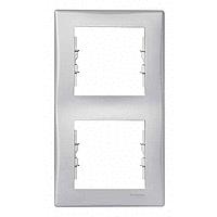 Рамка Schneider-Electric Sedna 2-постовая вертикальная алюминий. SDN5801160