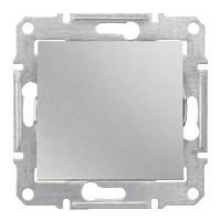 Переключатель Schneider-Electric Sedna 1-клавишный 16А проходной алюминий. SDN0400460