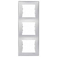 Рамка Schneider-Electric Sedna 3-поста вертикальная алюминий. SDN5801360