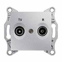 Розетка Schneider-Electric Sedna TV/R розетка проходная алюминий. SDN3301360