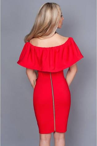 Нарядное платье красное с открытыми плечами, фото 2
