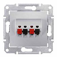 Розетка Schneider-Electric Sedna Аудио алюминий. SDN5400160